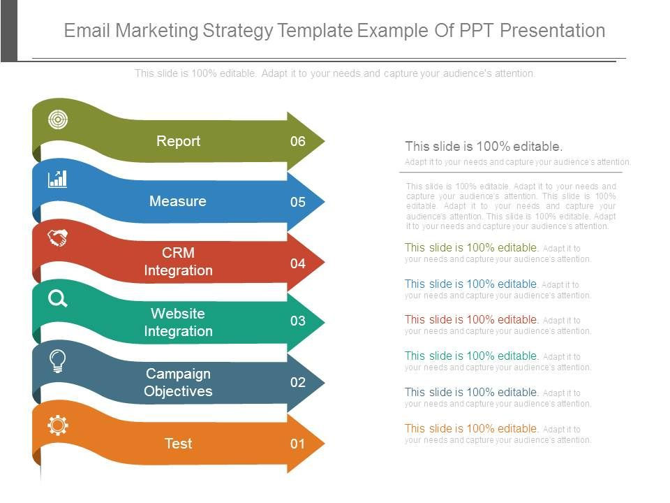 Email Marketing Strategy Template Example Of Ppt Presentation - marketing presentation