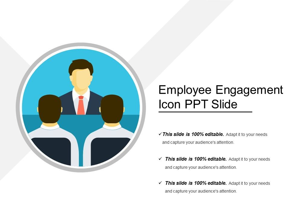 Employee Engagement Icon Ppt Slide Presentation PowerPoint - Employee Presentations