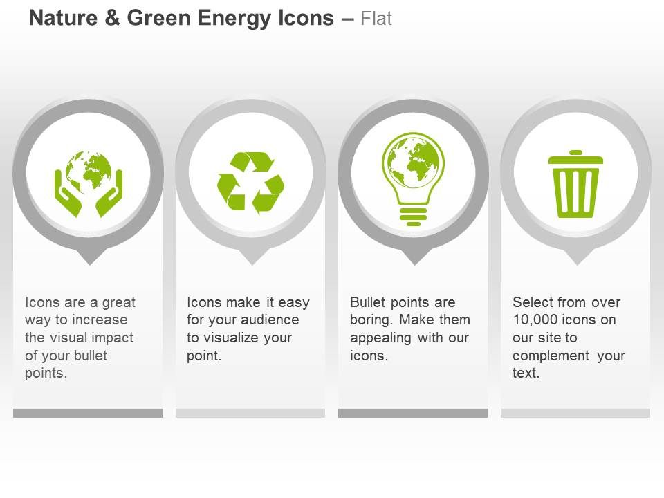 Energy Conservation Recycle Bulb Waste Management Ppt Icons Graphics - waste management ppt