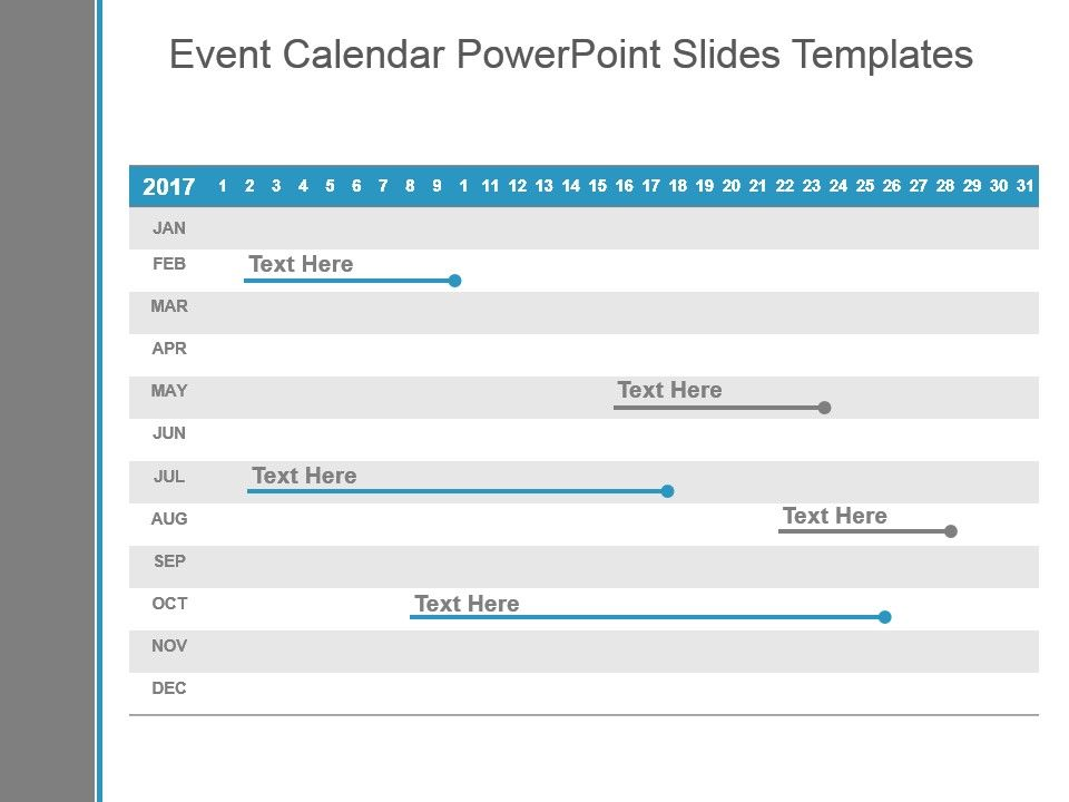 Event Calendar Powerpoint Slides Templates PowerPoint Slide - sample power point calendar