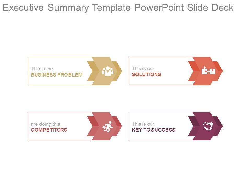 Executive Summary Template Powerpoint Slide Deck PowerPoint