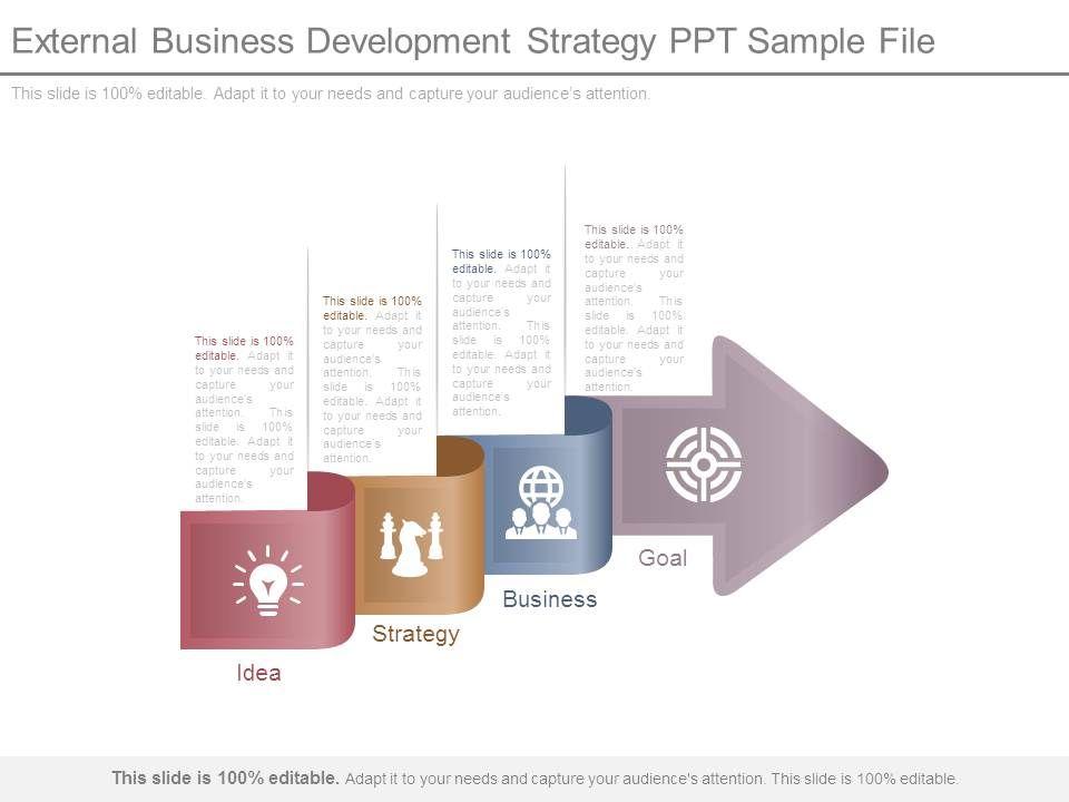 External Business Development Strategy Ppt Sample File Templates - business development strategy ppt