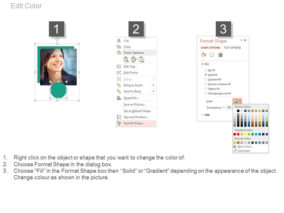 Four Employees For Business Profile About Us Powerpoint Slides - business profile format