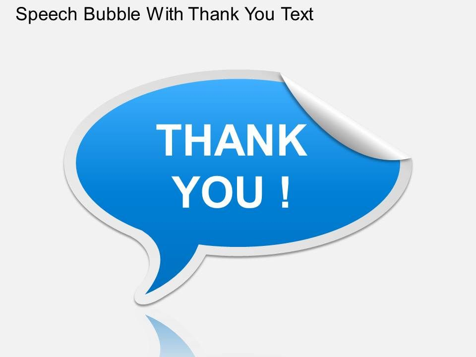 Ga Speech Bubble With Thank You Text Powerpoint Template Graphics