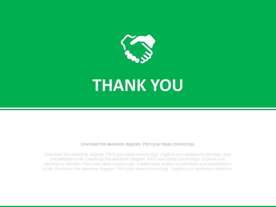 Green And White Thank You Text Slide Powerpoint Slides PowerPoint