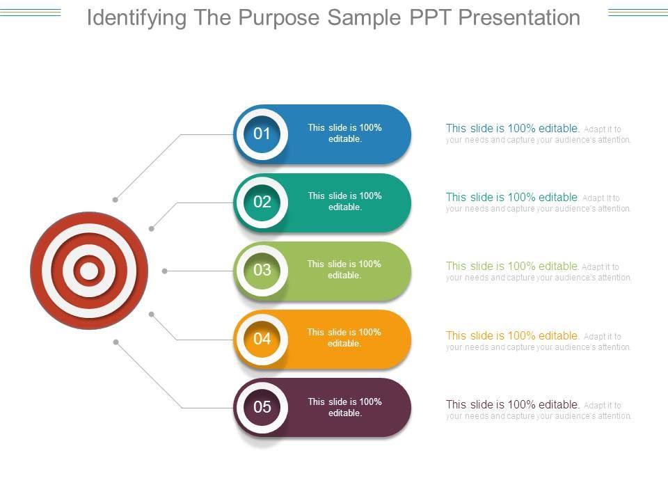 Identifying The Purpose Sample Ppt Presentation PowerPoint