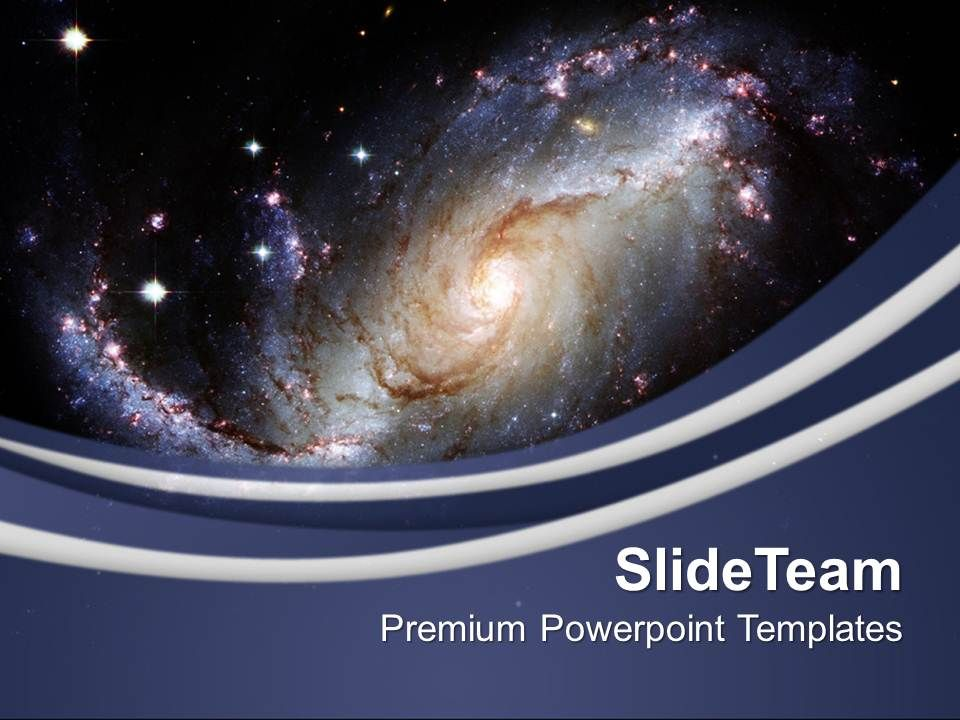 Illustration Of Spiral Galaxy PowerPoint Templates PPT Themes And