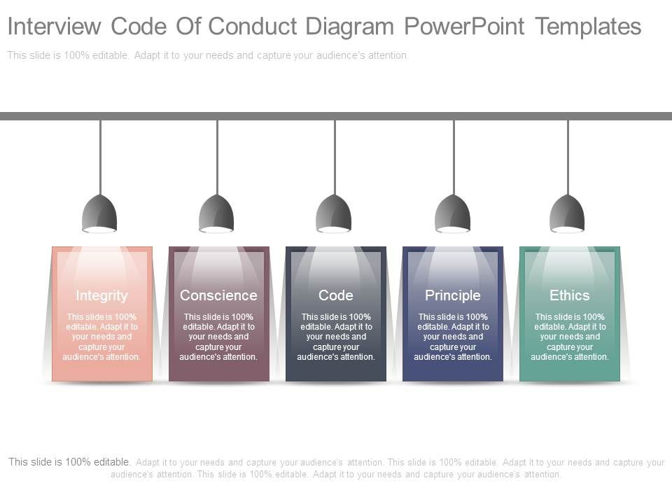 Interview Code Of Conduct Diagram Powerpoint Templates PowerPoint - Code Of Conduct Example