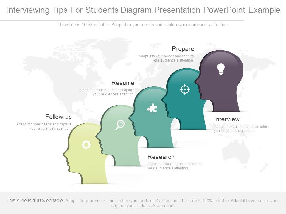 Interviewing Tips For Students Diagram Presentation Powerpoint