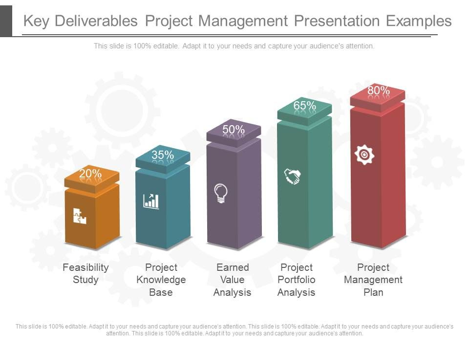 Key Deliverables Project Management Presentation Examples - Presentation Project