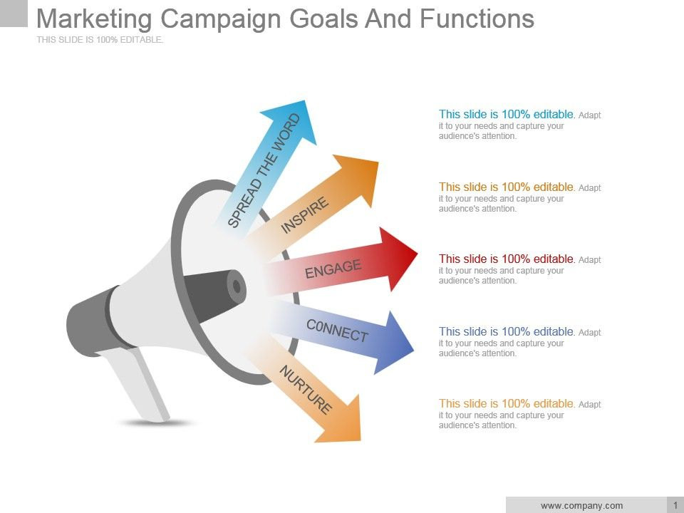 Marketing Campaign Goals And Functions Sample Of Ppt PowerPoint - sample marketing campaign