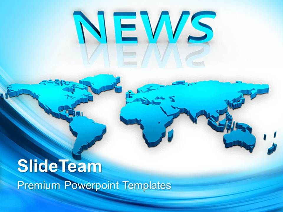 Marketing Concepts Powerpoint Templates Map With News Global Ppt - global powerpoint template