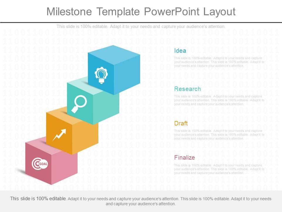 Milestone Template Powerpoint Layout PowerPoint Templates