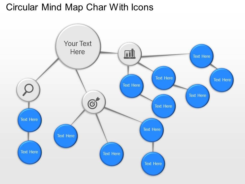 Nc Circular Mind Map Chart With Icons Powerpoint Template
