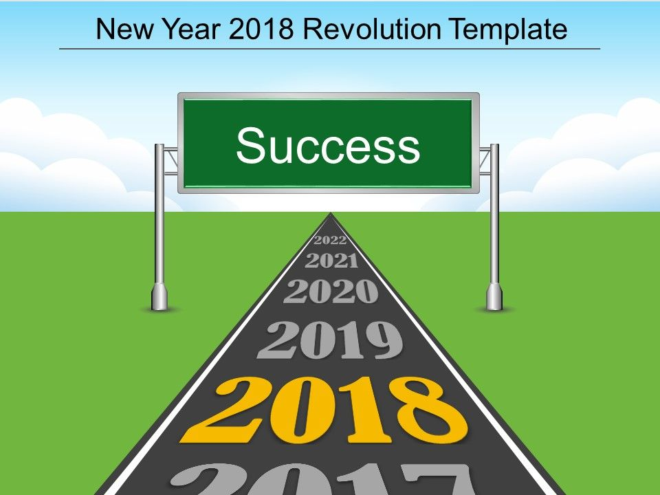 New Year 2018 Revolution Template Powerpoint Slides Deck Templates