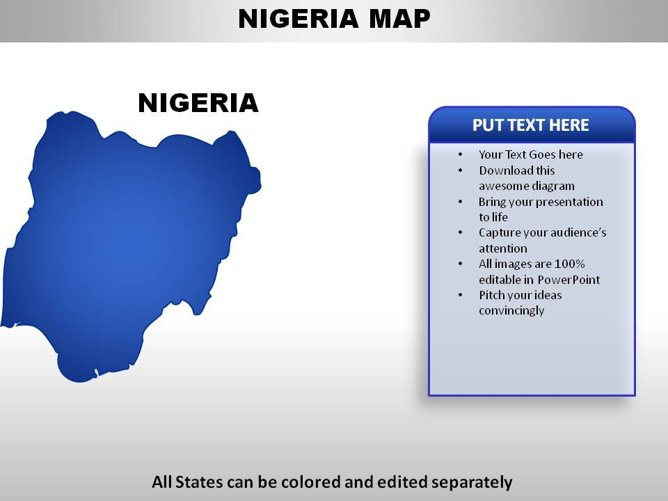 Nigeria Country Powerpoint Maps Presentation PowerPoint Images