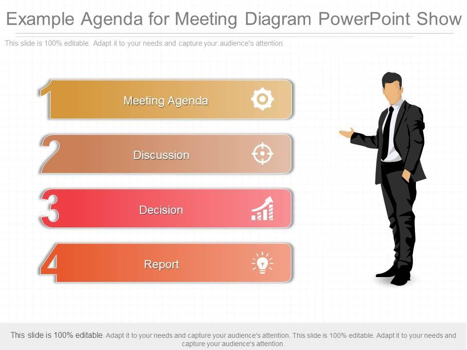 Original Example Agenda For Meeting Diagram Powerpoint Show