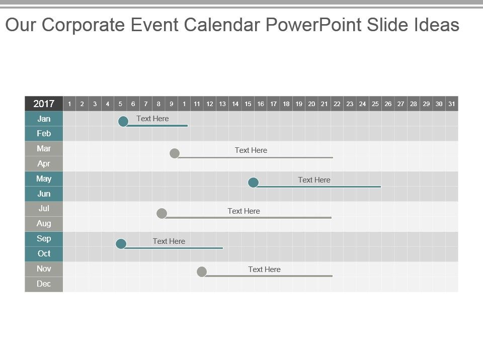 Our Corporate Event Calendar Powerpoint Slide Ideas Templates - powerpoint calendar template