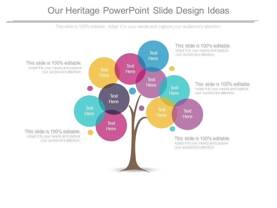 Our Heritage Powerpoint Slide Design Ideas Templates PowerPoint - power point slide designs