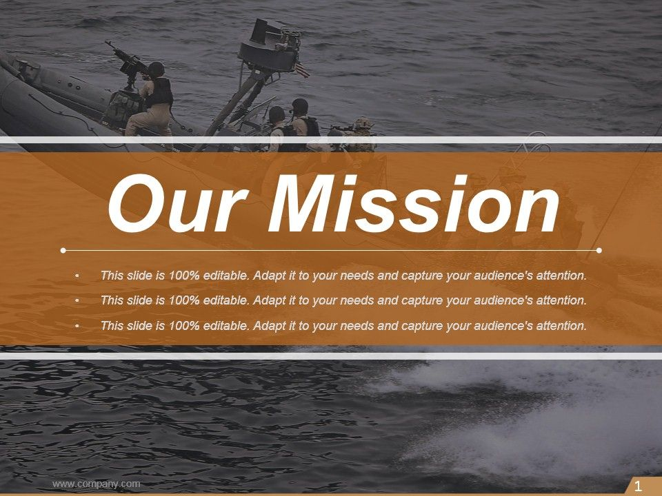 Our Mission Navy Image Slide Ppt Slides PowerPoint Slide Templates - navy powerpoint templates