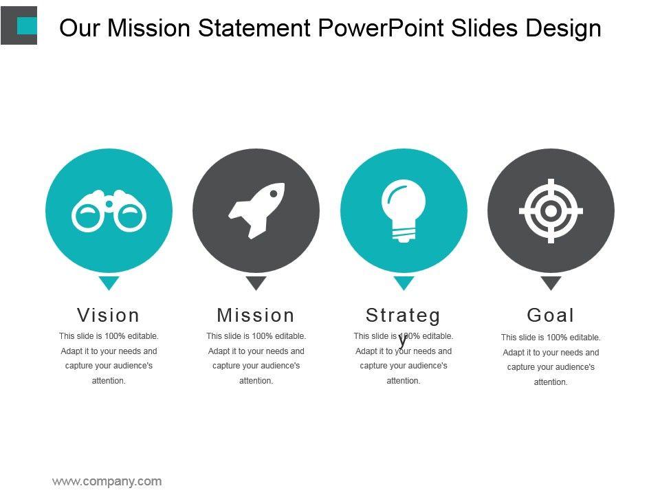 Our Mission Statement Powerpoint Slides Design Presentation - power point slide designs