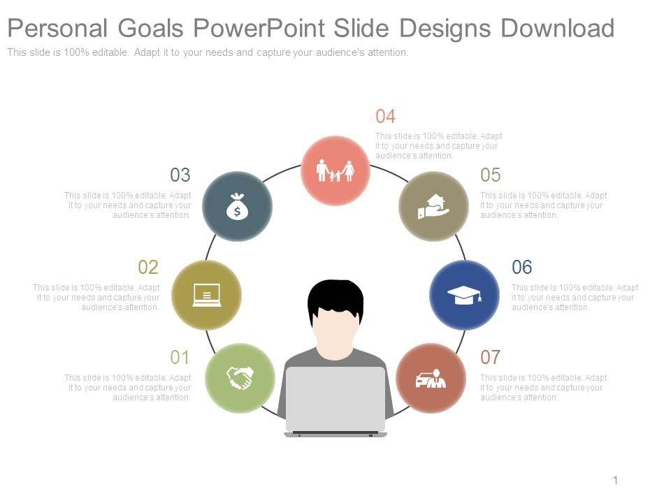 Personal Goals Powerpoint Slide Designs Download PowerPoint - personal goal template