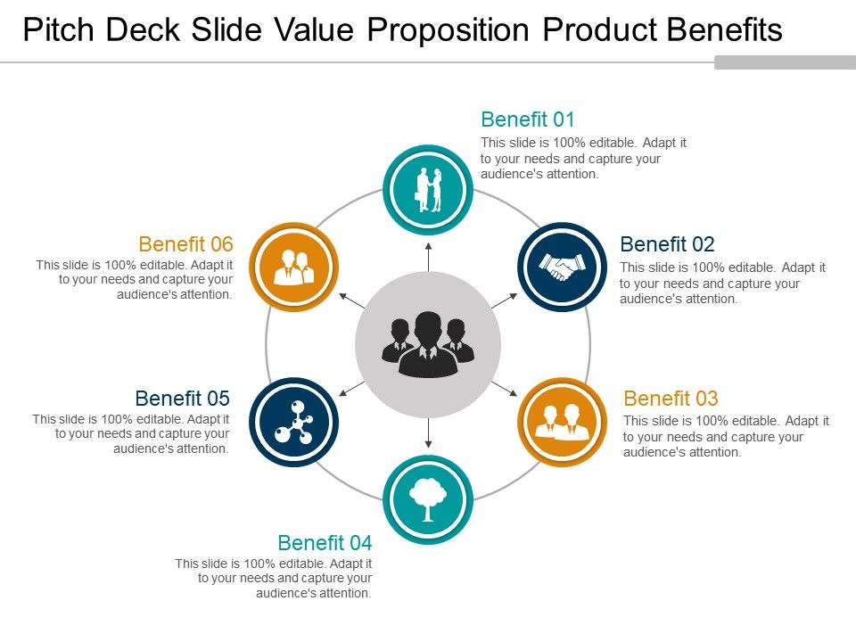 Pitch Deck Slide Value Proposition Product Benefits 3 Presentation - product pitch template