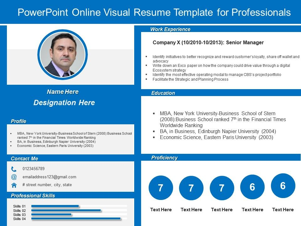 Powerpoint Resume Presentation 2008 - Manual Guide Example 2018 \u2022