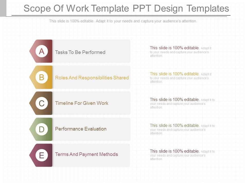 Pptx Scope Of Work Template Ppt Design Templates PowerPoint Shapes