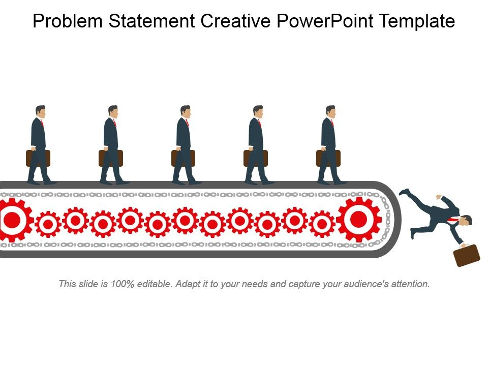 Problem Statement Creative Powerpoint Template PowerPoint Slides