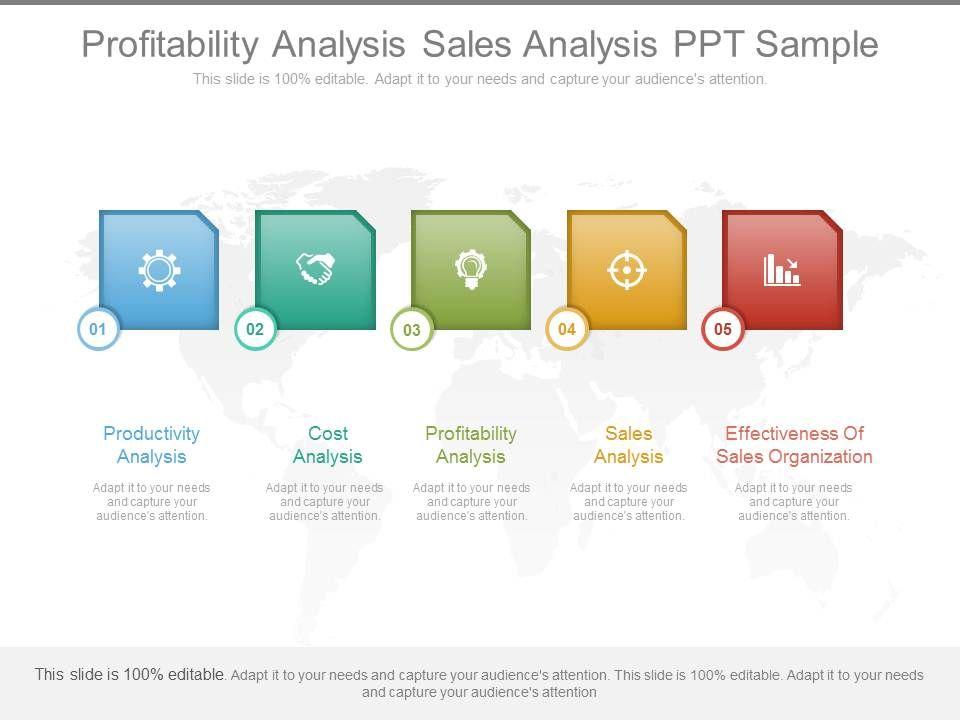 Profitability Analysis Sales Analysis Ppt Sample Template - sales analysis template