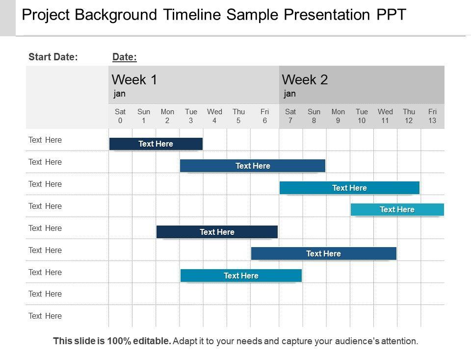Project Background Timeline Sample Presentation Ppt PowerPoint - timeline sample