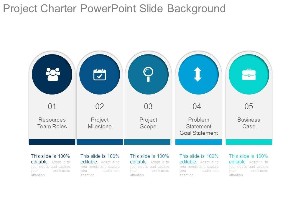 Project Charter Powerpoint Slide Background Presentation Graphics - power point slide designs