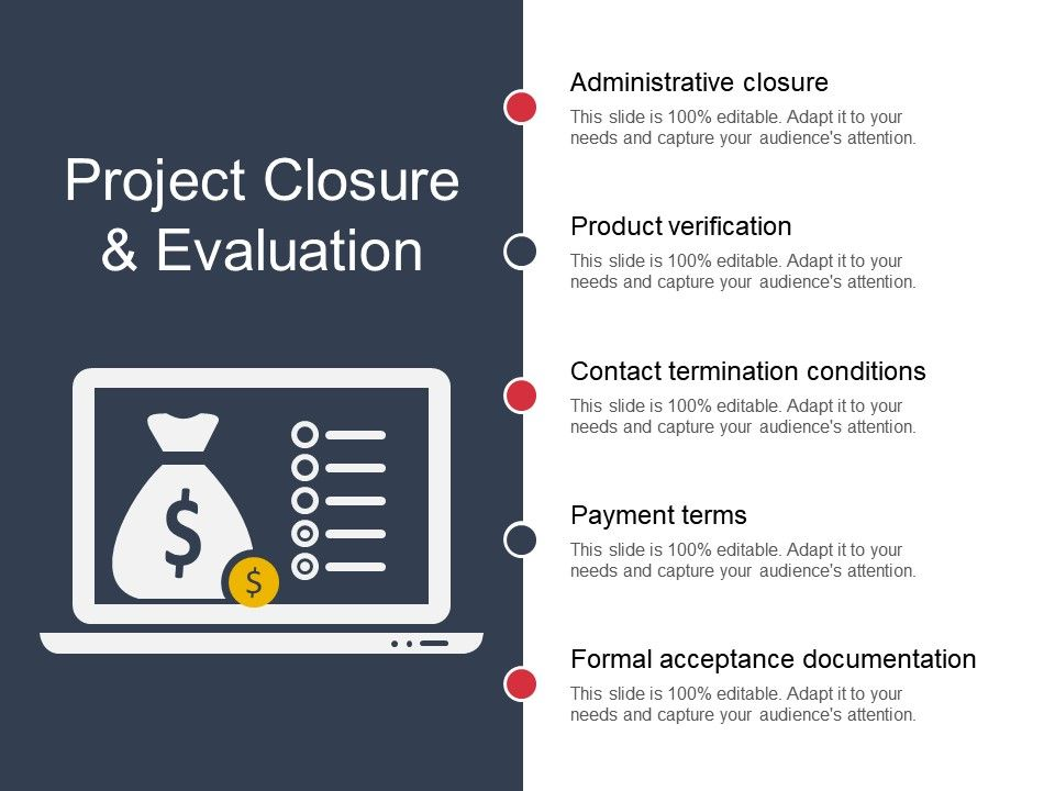 Project Closure And Evaluation Sample Of Ppt PowerPoint Slide