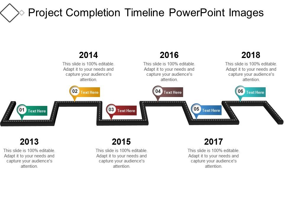 Project Completion Timeline Powerpoint Images PowerPoint Slide - sample powerpoint timeline