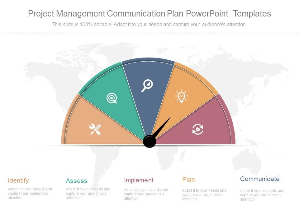 Project Management Communication Plan Powerpoint Templates - project plan ppt template