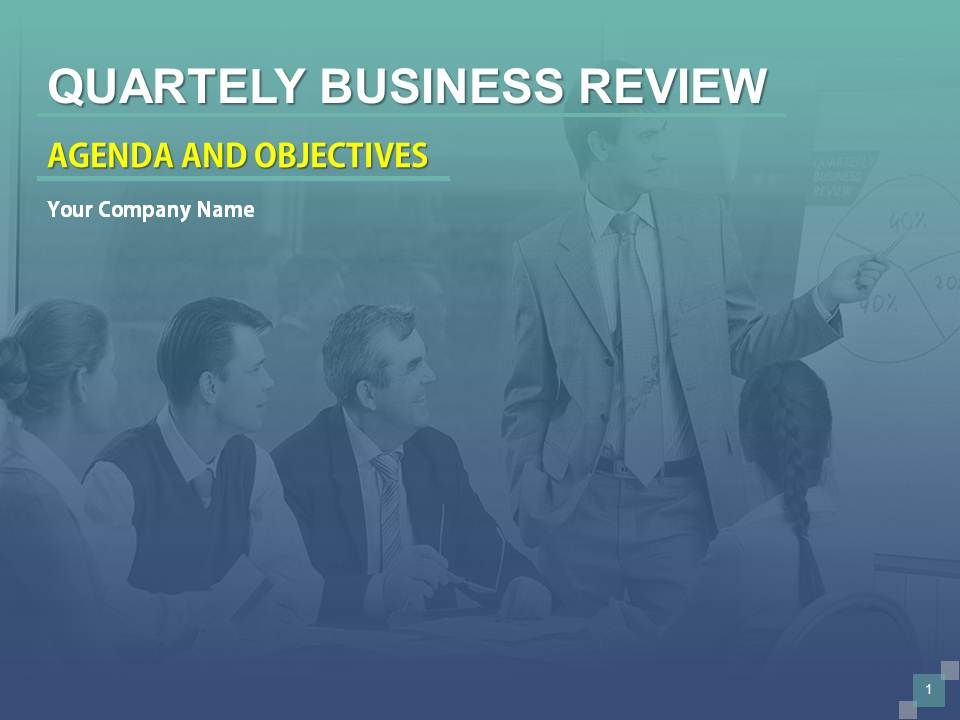 Quarterly Business Review Agenda And Objectives PowerPoint
