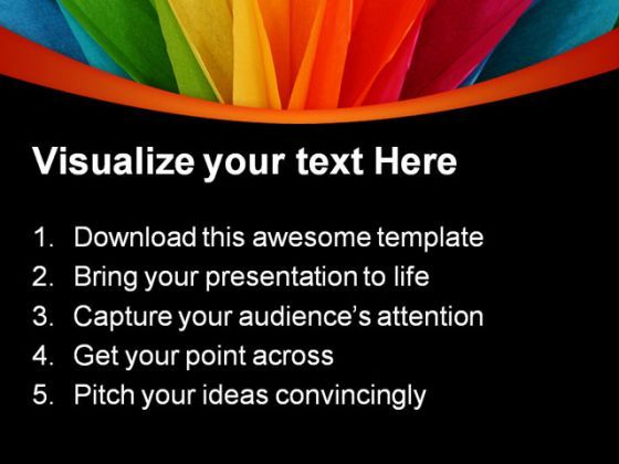 Rainbow Abstract PowerPoint Templates And PowerPoint Backgrounds - rainbow powerpoint