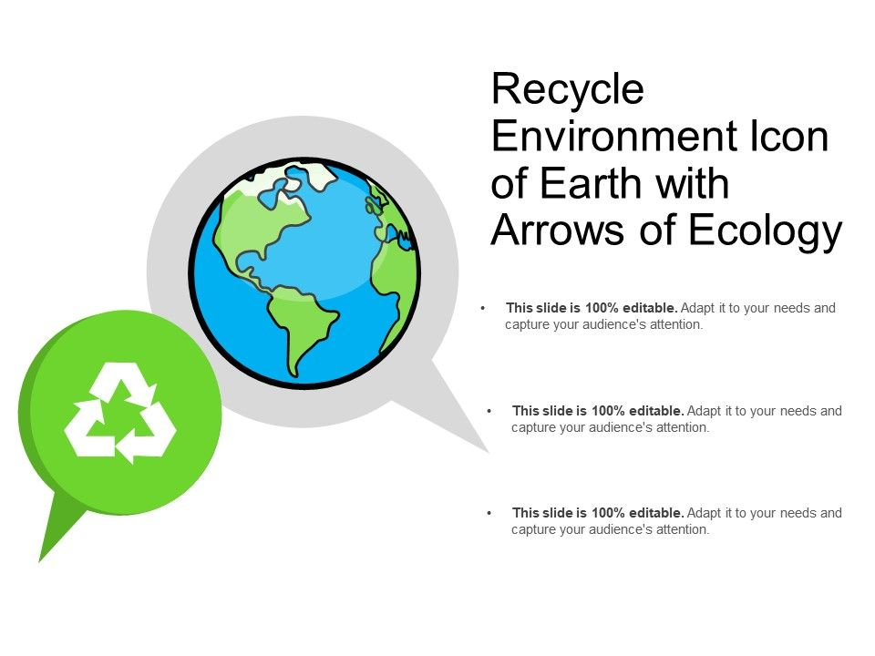 Recycle Environment Icon Of Earth With Arrows Of Ecology
