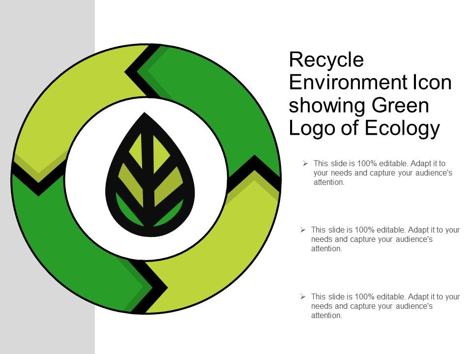 Recycle Environment Icon Showing Green Logo Of Ecology PowerPoint