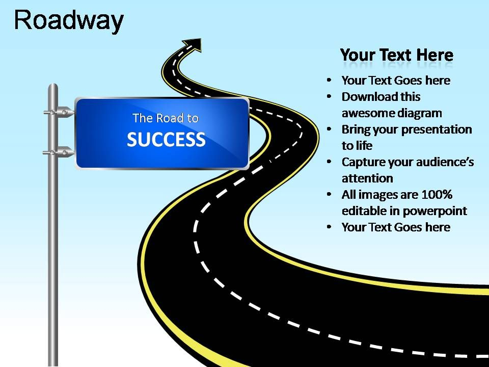 Roadway Powerpoint Presentation Slides PPT Images Gallery - Powerpoint Presentation
