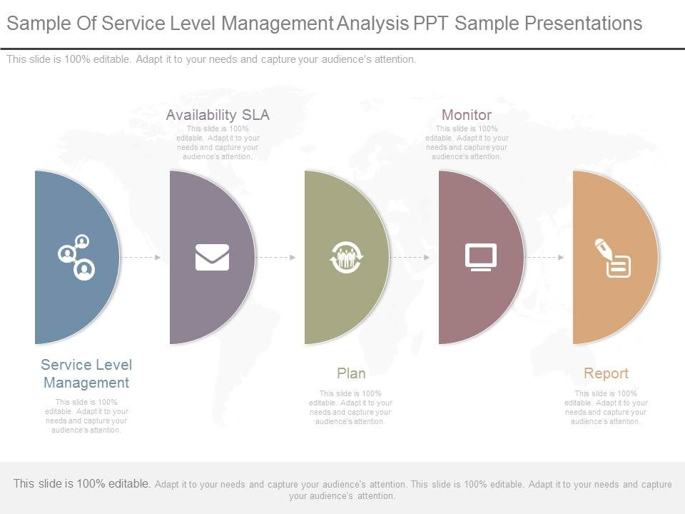 Sample Of Service Level Management Analysis Ppt Sample Presentations - Management Analysis Sample