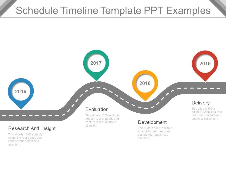 Schedule Timeline Template Ppt Examples PowerPoint Templates - career timeline template