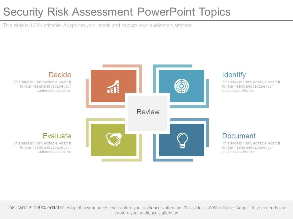 Security Risk Assessment Powerpoint Topics PowerPoint Templates