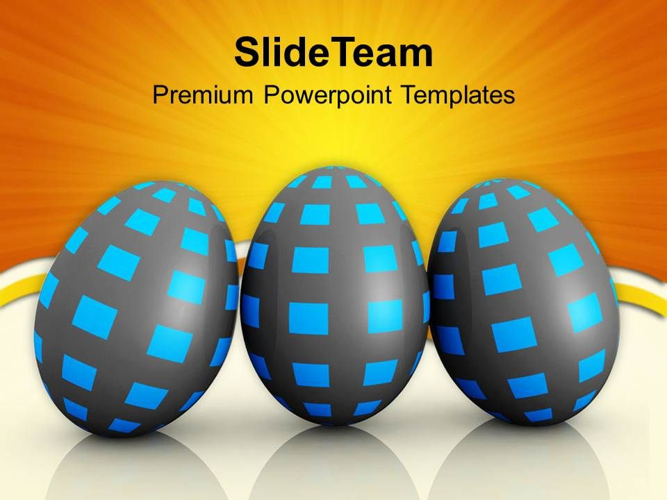 Shiney Same Pattern And Colored Easter Powerpoint Templates Ppt