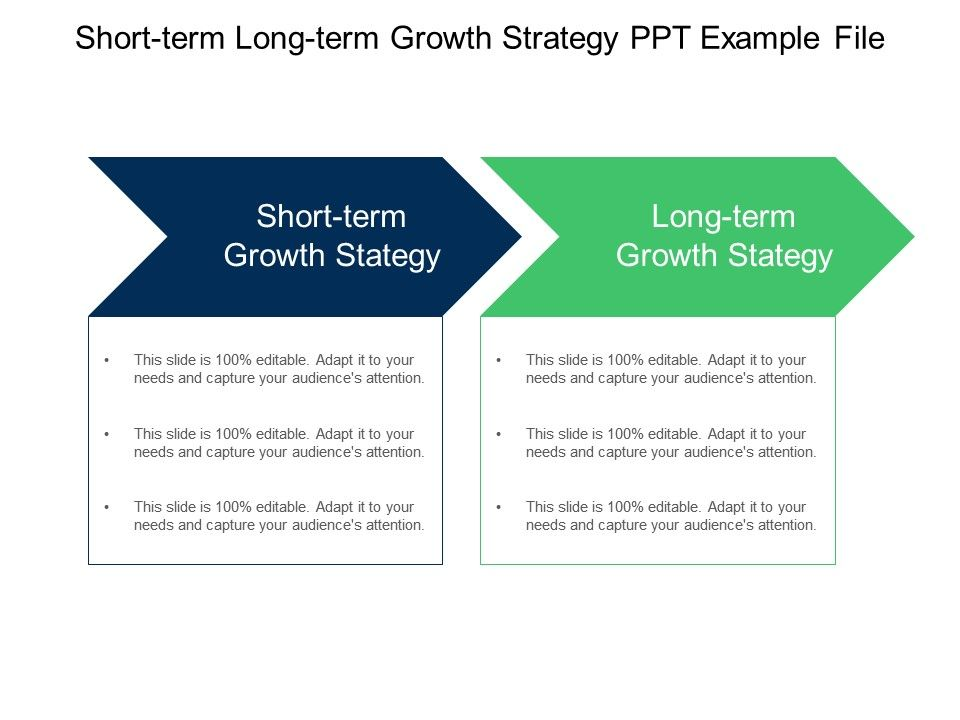 Short Term and Long Term PowerPoint Templates Short Term and Long