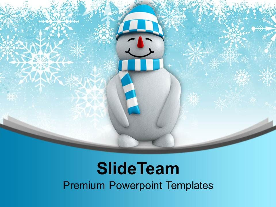 Snowman With Hat Standing Winter Powerpoint Templates Ppt Themes And - winter powerpoint template