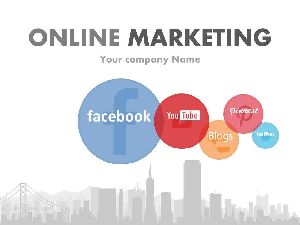 Social Media Focused Online Marketing PowerPoint Presentation With - marketing presentation
