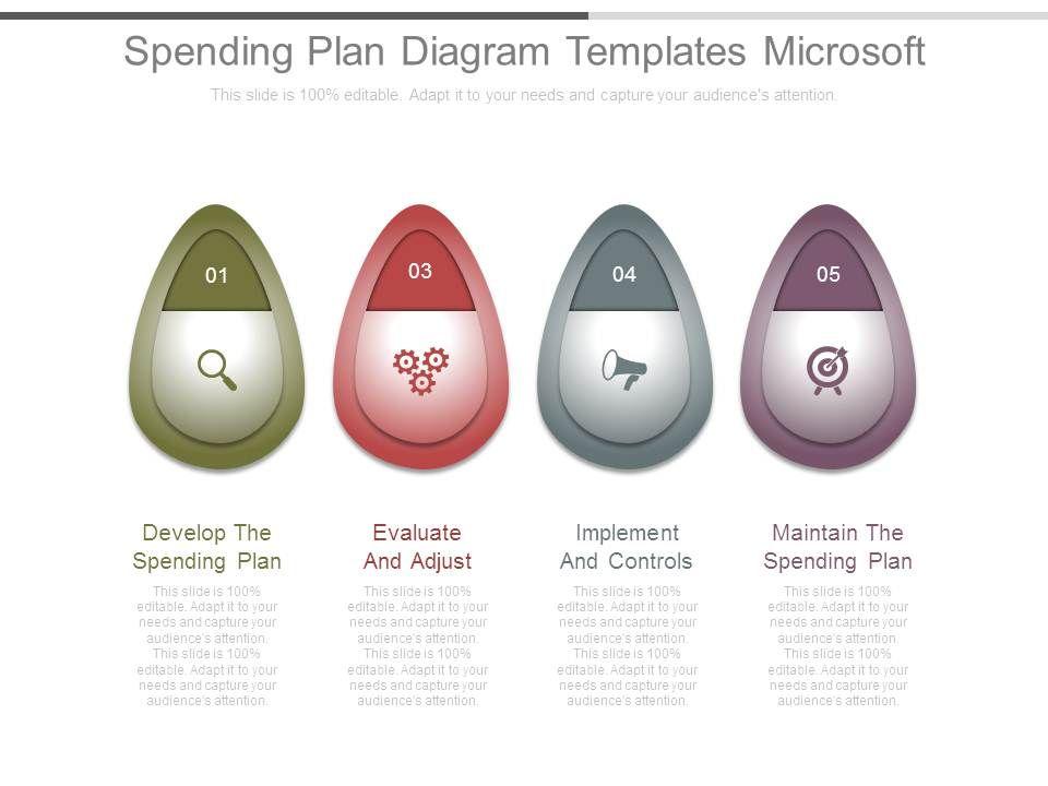 Spending Plan Diagram Templates Microsoft PowerPoint Shapes