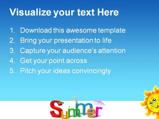 Summer Holidays PowerPoint Templates And PowerPoint Backgrounds - summer powerpoint template